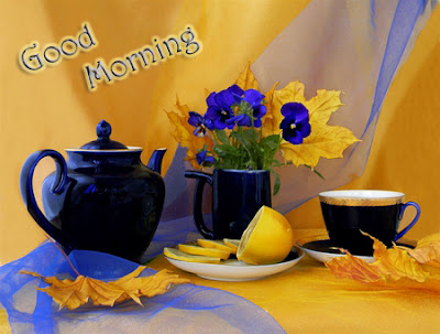 Good morning tea with cool morning