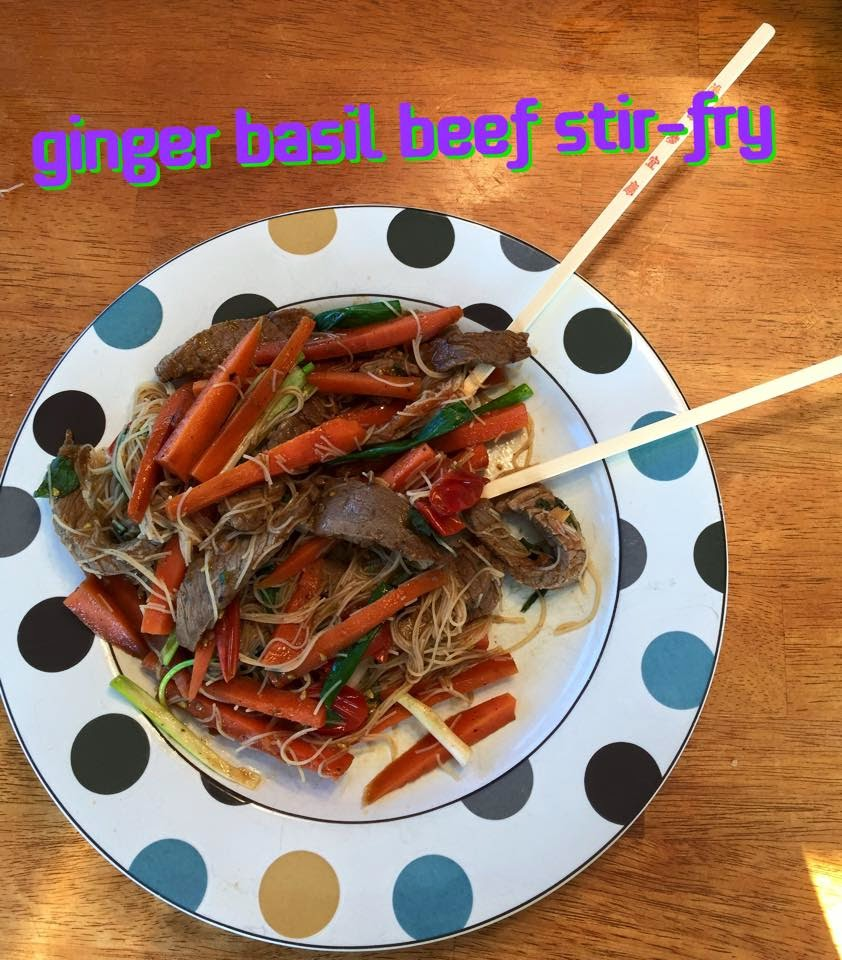 Megan Anderson: Ginger Basil Beef Stir-fry