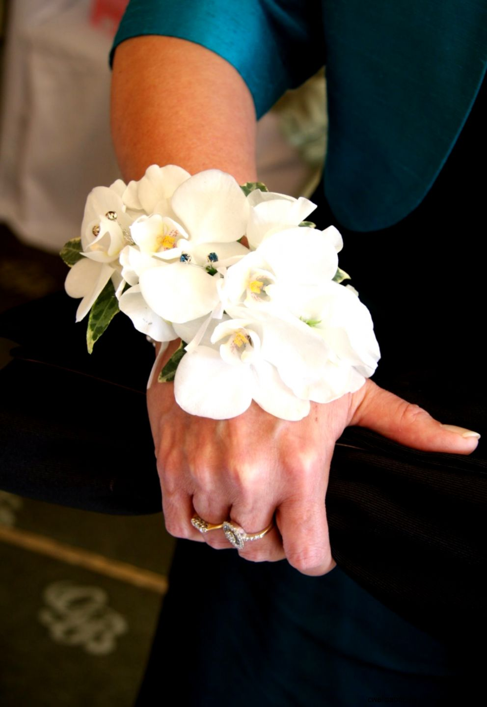 white orchid wrist corsage   Google Search  Prom 14  Pinterest