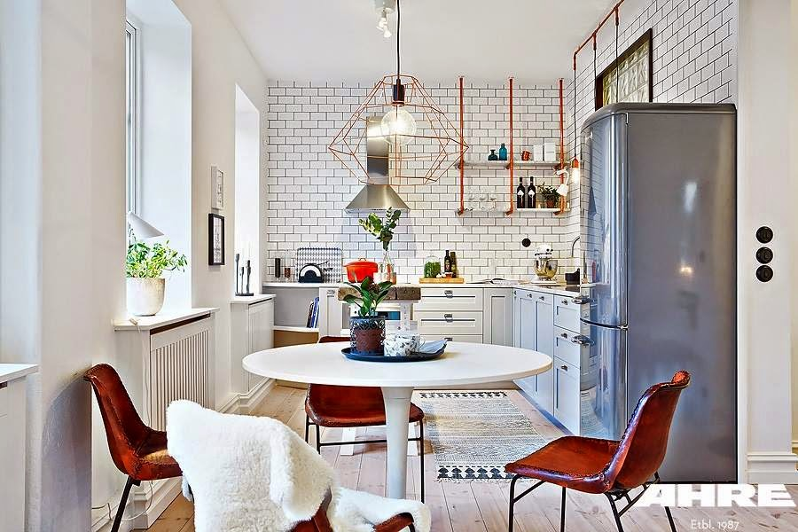 decordemon a bright swedish apartment with industrial accents