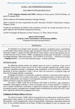 AIMC DOCUMENTO PROGRAMMATICO 2014-18
