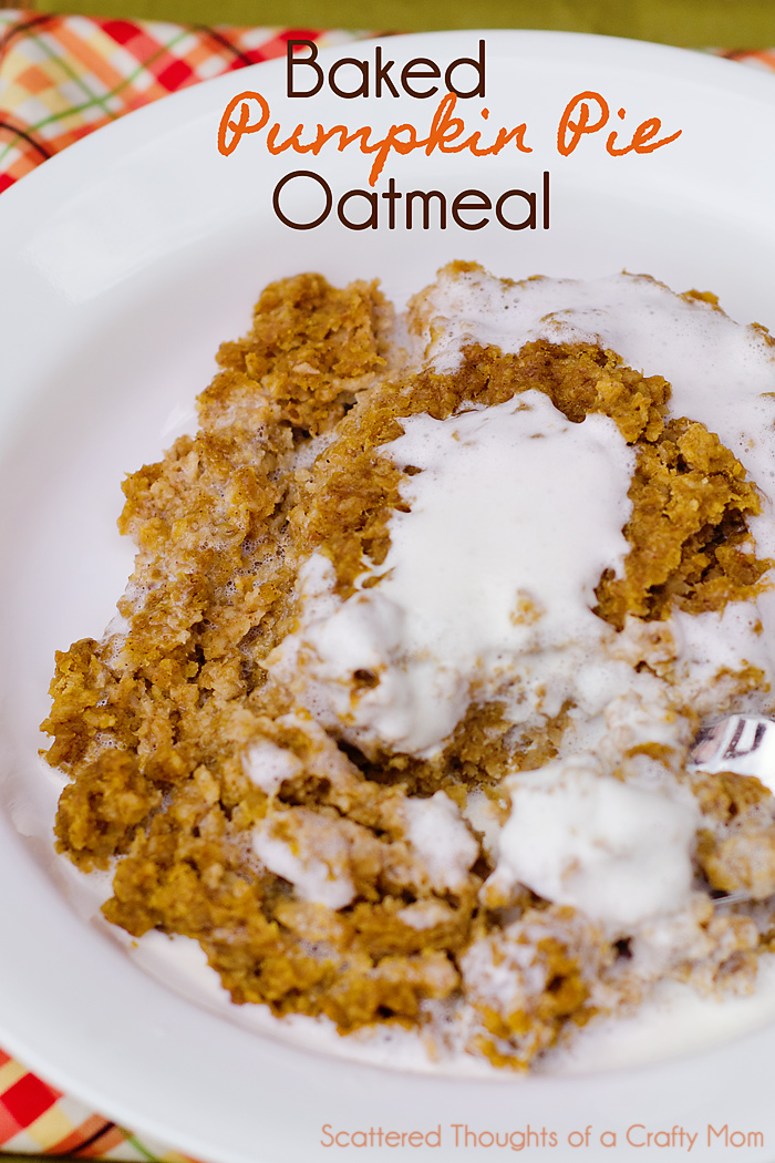 Baked Pumpkin Pie Oatmeal form STofaCM