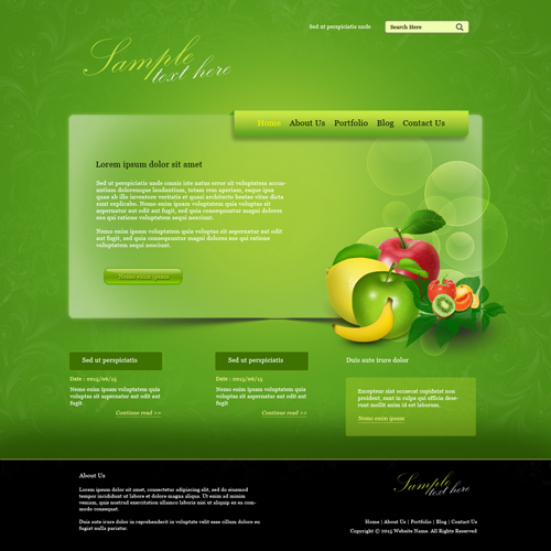 Create a Fruit Farm Website Design In Photoshop