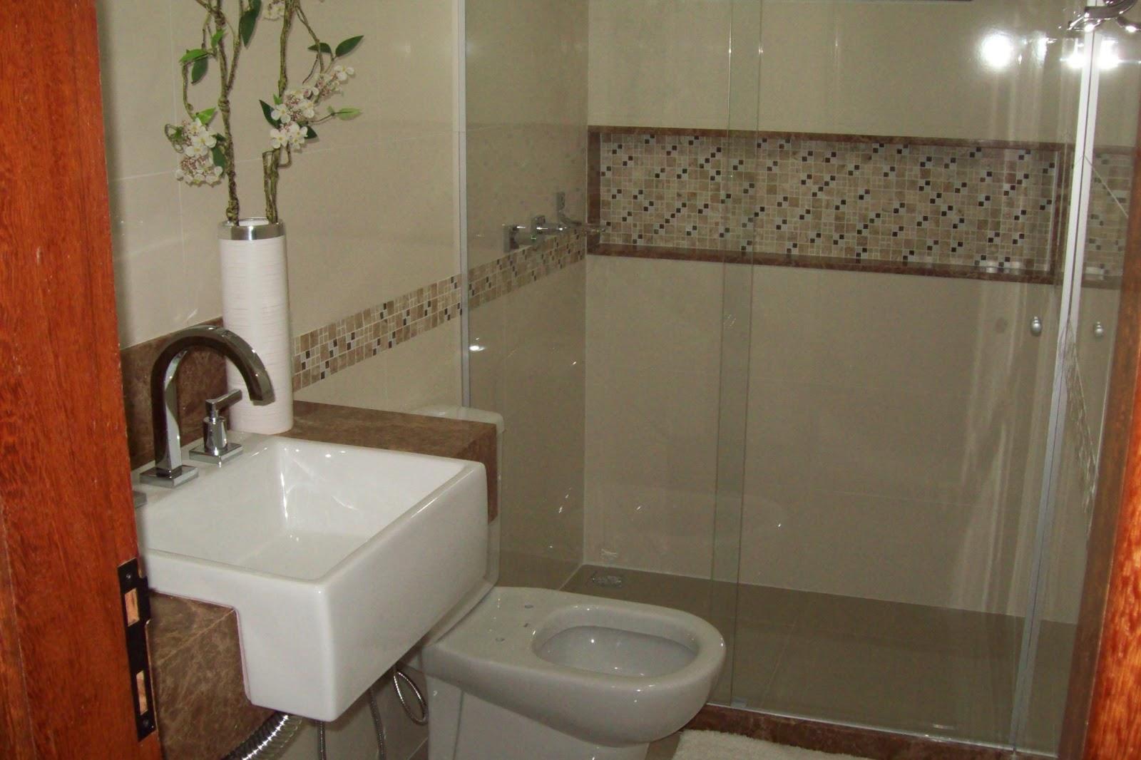 Construções Domingos: Banheiro com Nicho #AE461D 1600x1066 Banheiro Acabamento