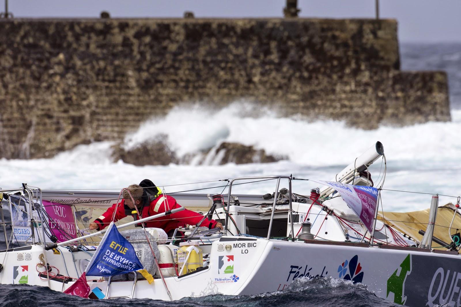 Triste souvenir de La Solitaire 2014 : Yann Eliès avait dématé sur la première étape.