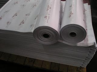 hojas y rollo de papel personalizado e impreso