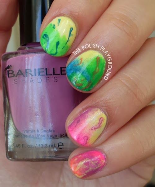 Abstract Watercolor Nail Art