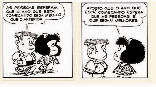 Mafalda, Manolo, Quino, Ano Novo