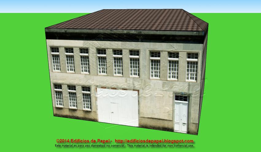 City building paper model