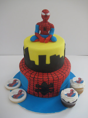 Spiderman Birthday Cake on Cake Bites  Spiderman Cake Cupcake Cookie Combo