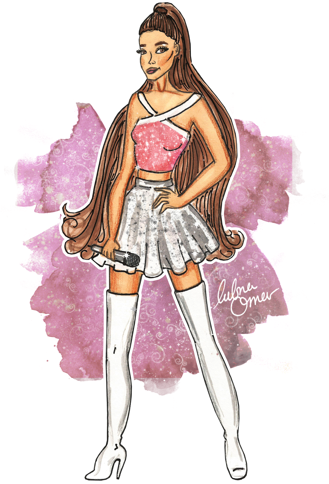 Ariana Grande illustration by Lubna Omar