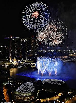 Perayaan Tahun Baru 2012 di Singapura
