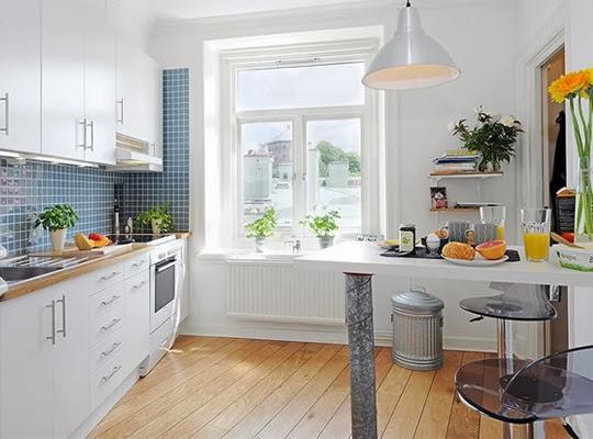 Pastellove kuchnia w stylu skandynawskim - Small space phobia design ...