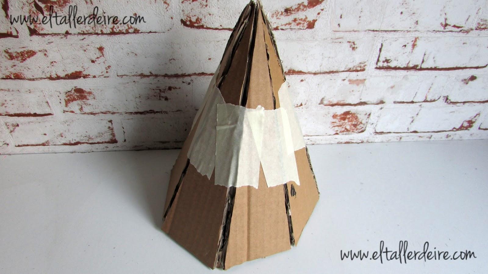 c mo hacer un rbol de navidad con cart n y papel seda