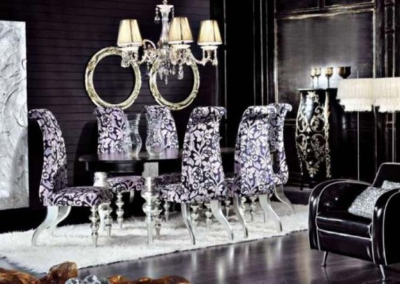 Modern House Modern And Luxury Dining Room Design With Black Decore