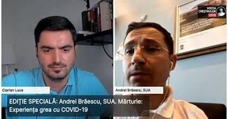 Experiența grea cu COVID-19 🔴 Interviu cu Andrei Brăescu, SUA