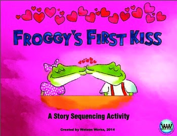 http://www.teacherspayteachers.com/Product/Froggys-First-Kiss-A-Valentines-Day-themed-Sequencing-Activity-1095762