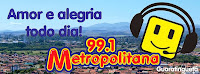 ouvir a Rádio Metropolitana FM 99,1 Guaratinguetá SP