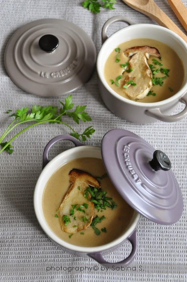 Vellutata con funghi porcini e patate