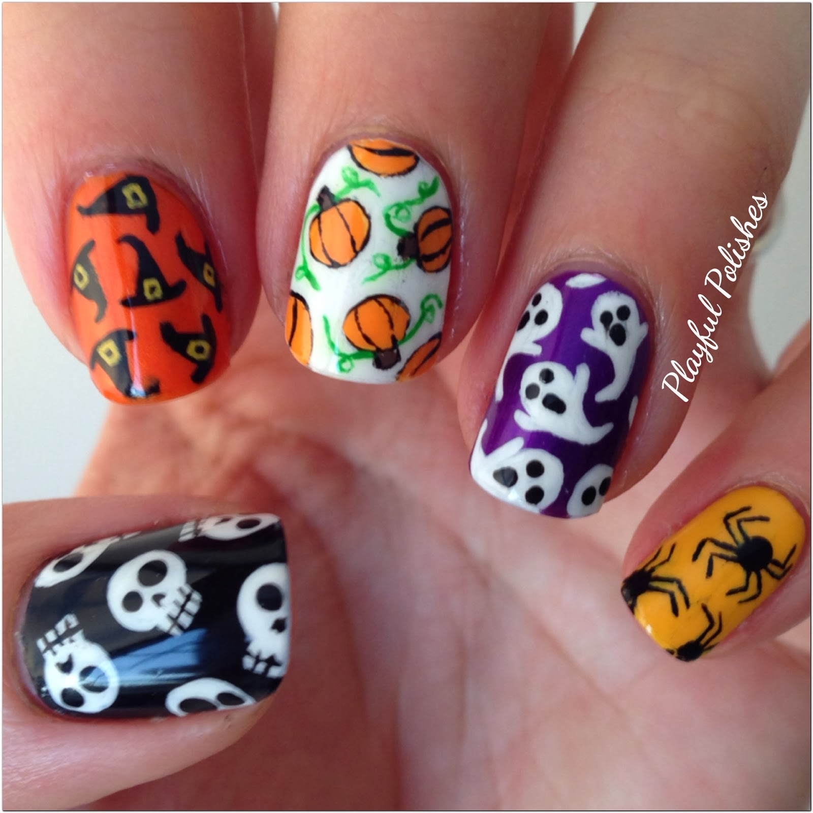 Playful Polishes: HALLWEEN NAIL DESIGNS