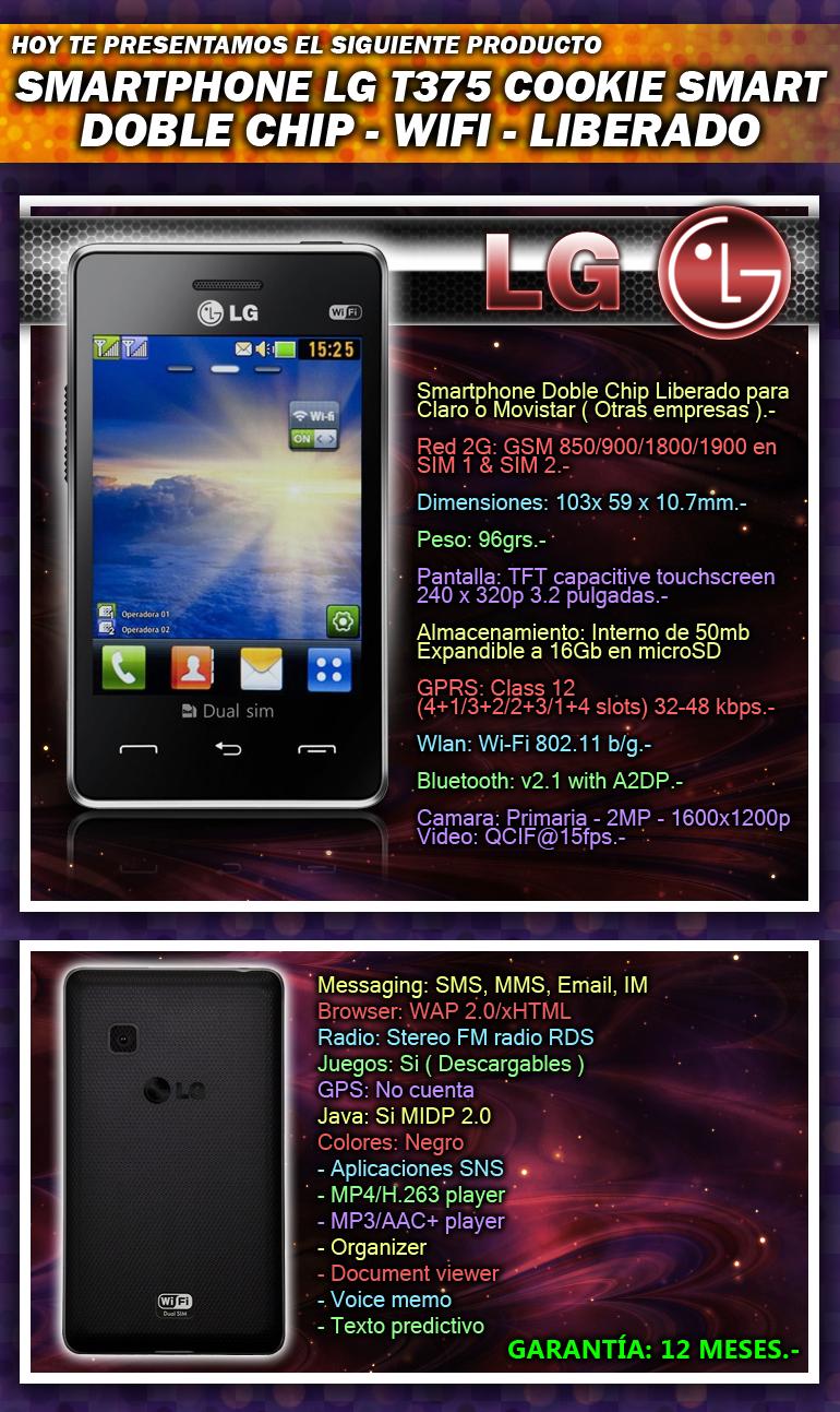 Smartphone Lg T375 Cookie Smart - Doble Chip - Liberado