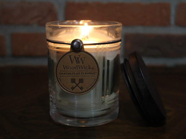 Woodwick Candles... It Crackles as it burns.