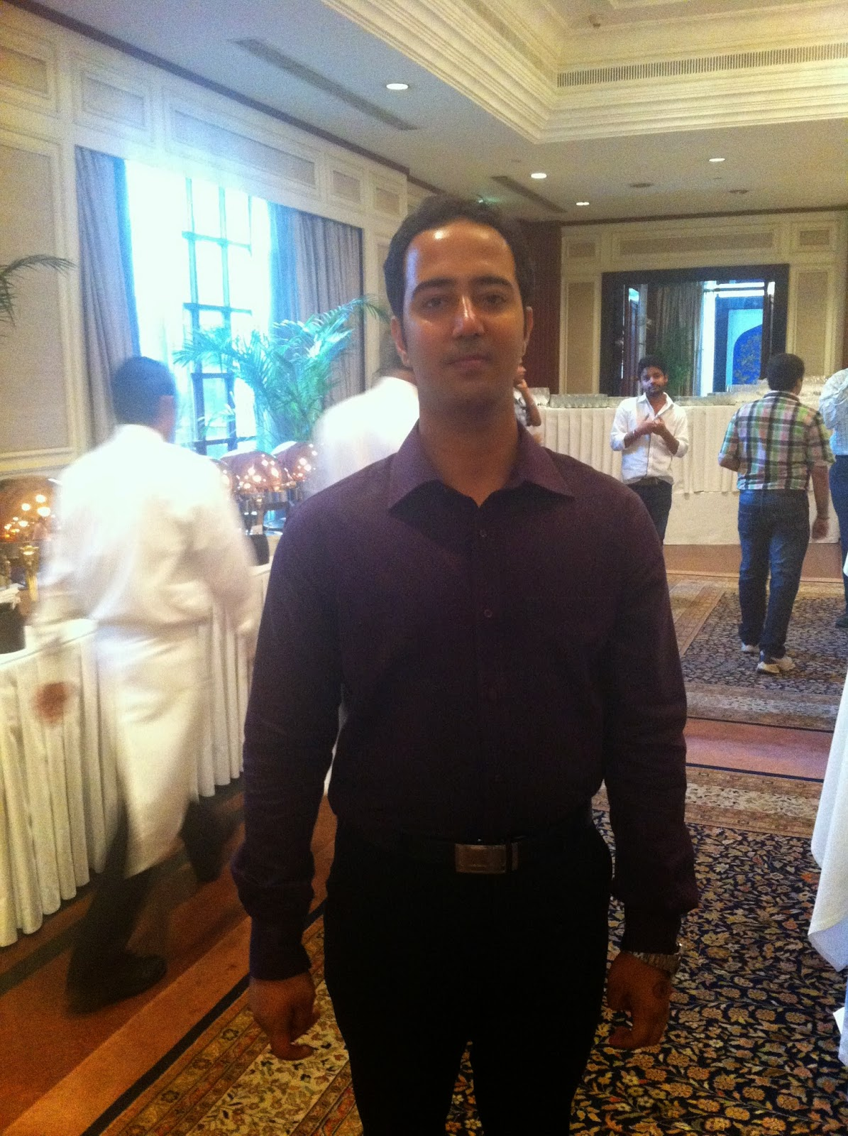 Saurabh at the outside of the Ballroom of The Oberoi Hotel at NokiaXL meet