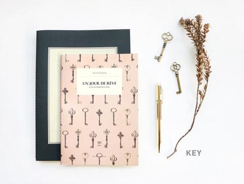 vintage key notebook