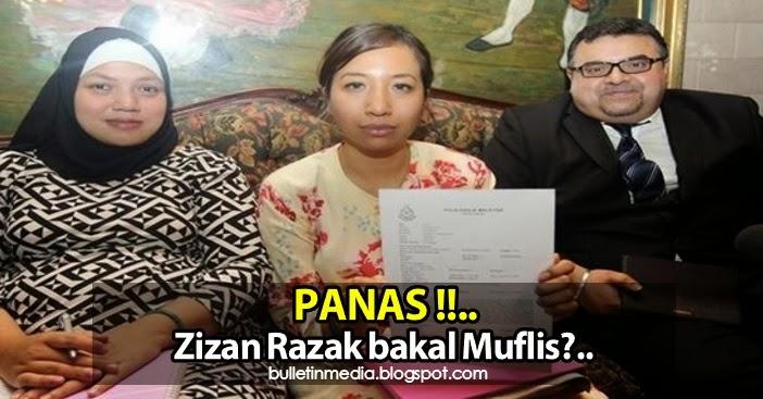 PANAS Pelawak dan Pelakon Zizan Razak bakal Muflis