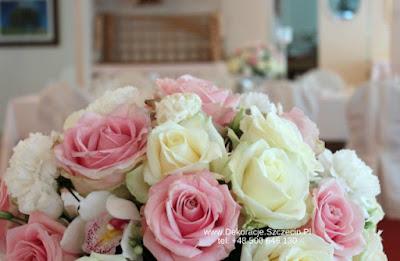 pastelowe kwiaty na wesele