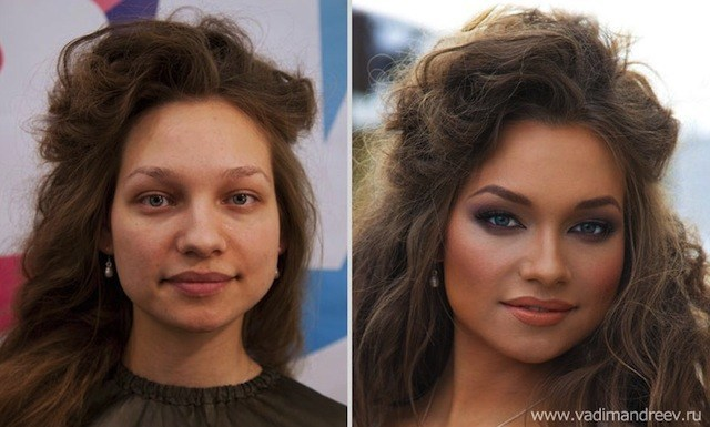 Antes e Depois da Maquiagem