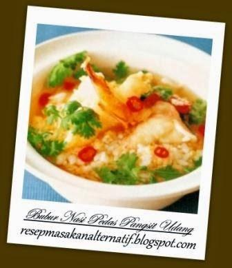 Resep dan Cara Membuat Bubur Nasi Pedas Pangsit Udang