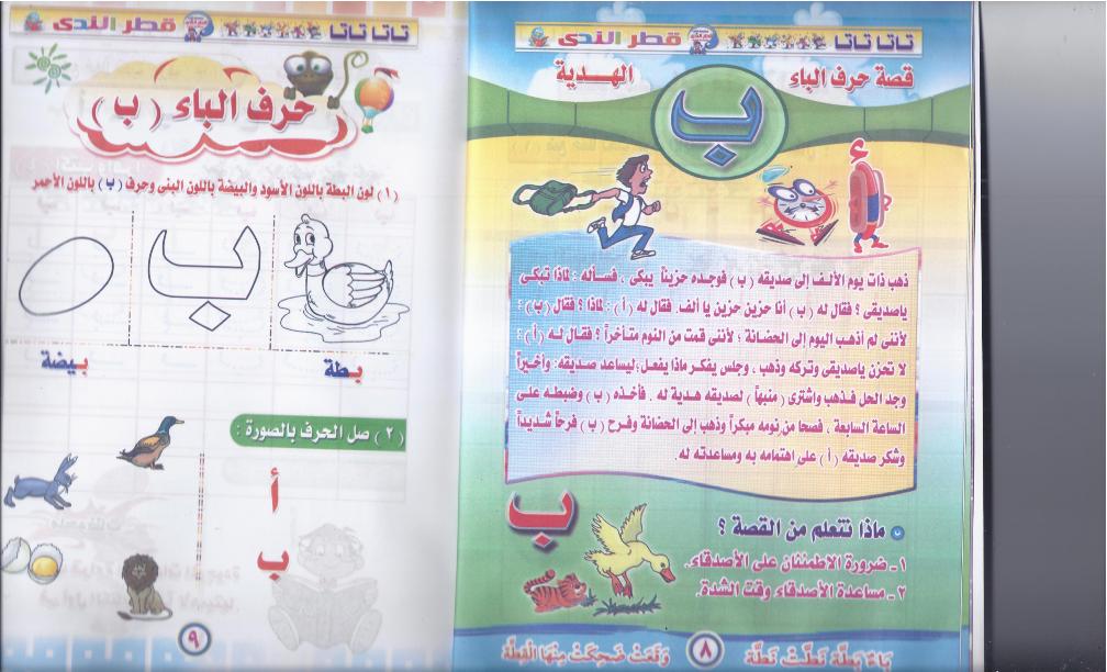 لاول الندى لتأسيس اطفال الحضانة ورياض الاطفال اللغة العربية ومبادىء