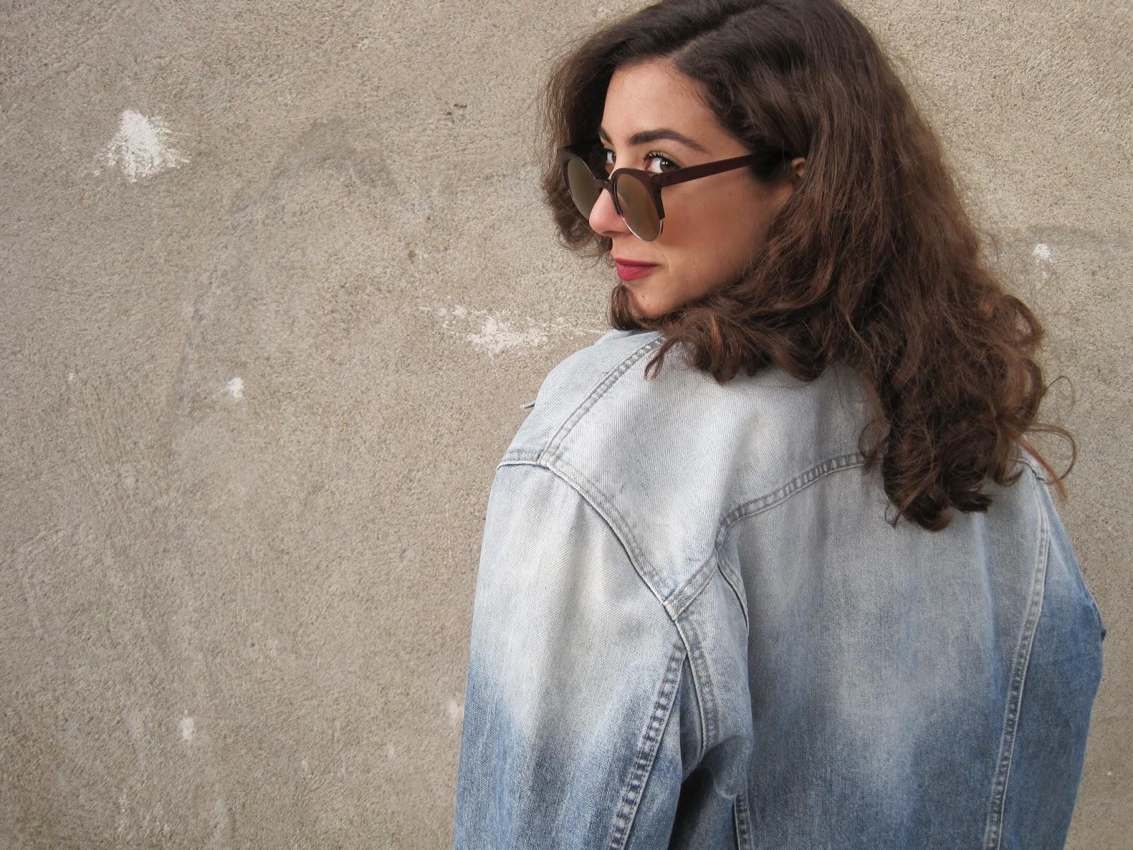 gas, denim, jacket, vintage