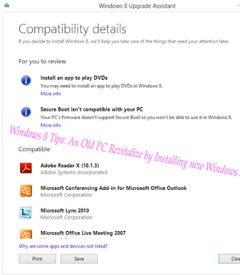 Windows 8 Tips: An Old PC Revitalize by Installing new Windows 8