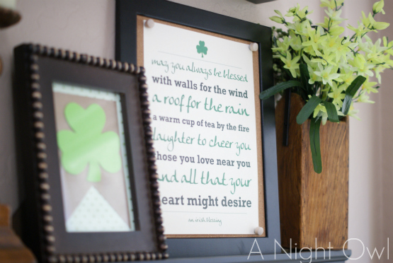 St. Patrick's Day Mantel - A Night Owl Blog