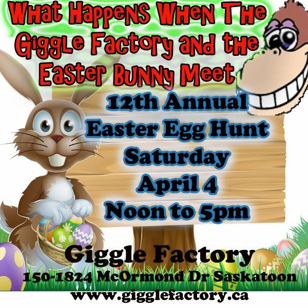 { giggle factory easter egg hunt }