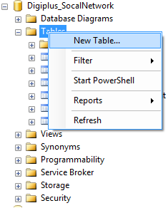 Create Sql Table
