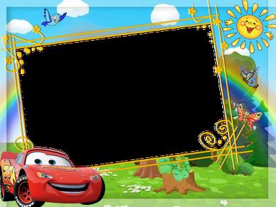 marco para fotos de rayo mcqueen