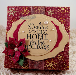 ODBD Christmas Tunes, ODBD Christmas Paper Collection 2015, ODBD Custom Peaceful Poinsettias Dies, ODBD Custom Circle Ornaments Dies, ODBD Custom Elegant Ovals Dies, ODBD Customer Project of the Day Stacy Morgan