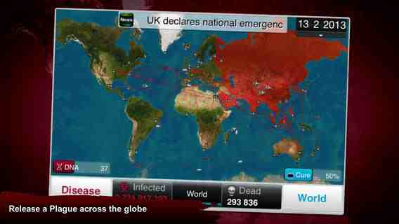 Plague Inc, iPhone Applications
