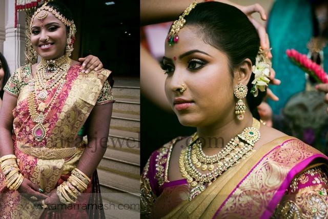 Tamil Bride in Antique Kundan Sets Jewellery Designs