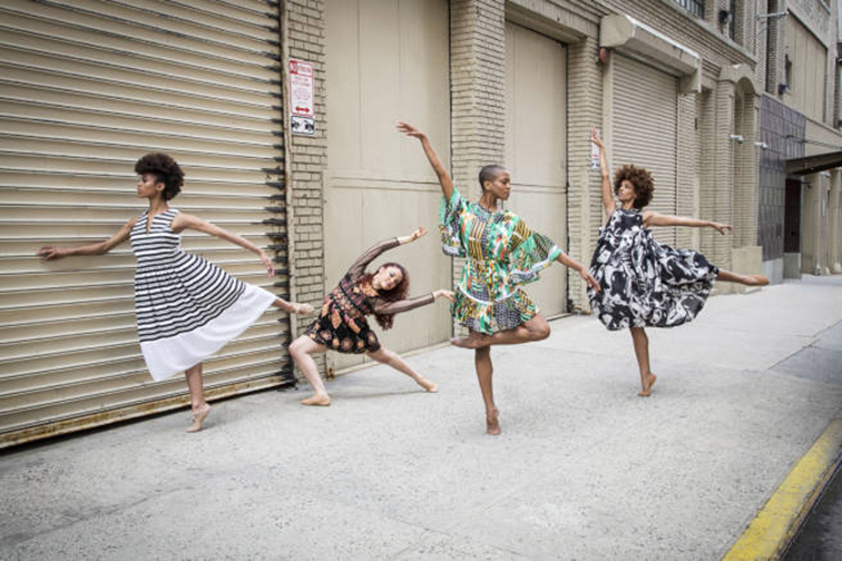 Alvin Ailey dancers for Elle magazine on the streets of New York City