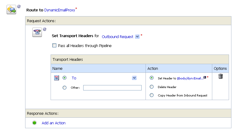 Add Transport Header