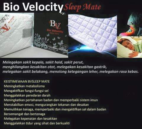KEISTIMEWAAN BIO VELOCITY SLEEP MATE