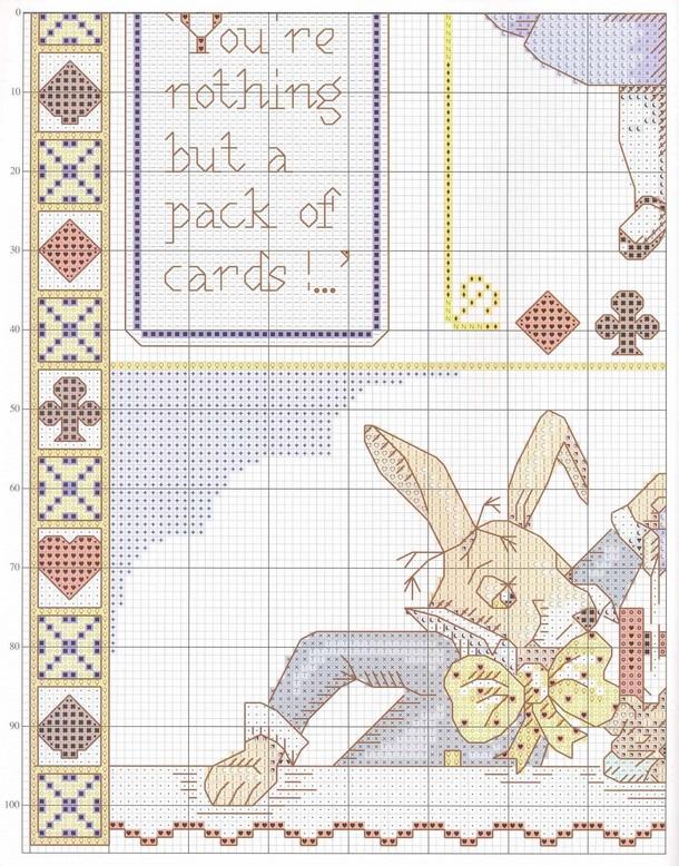 Алиса вышивка крестом кролик