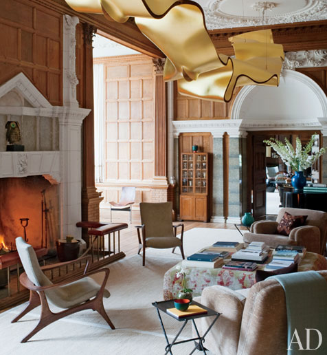 New Home Designs Latest October 2011: New Home Interior Design: An Updated English Manor