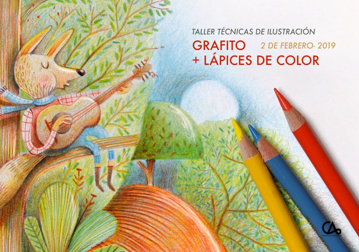 GRAFITO Y LÁPICES DE COLOR // 2 de feb