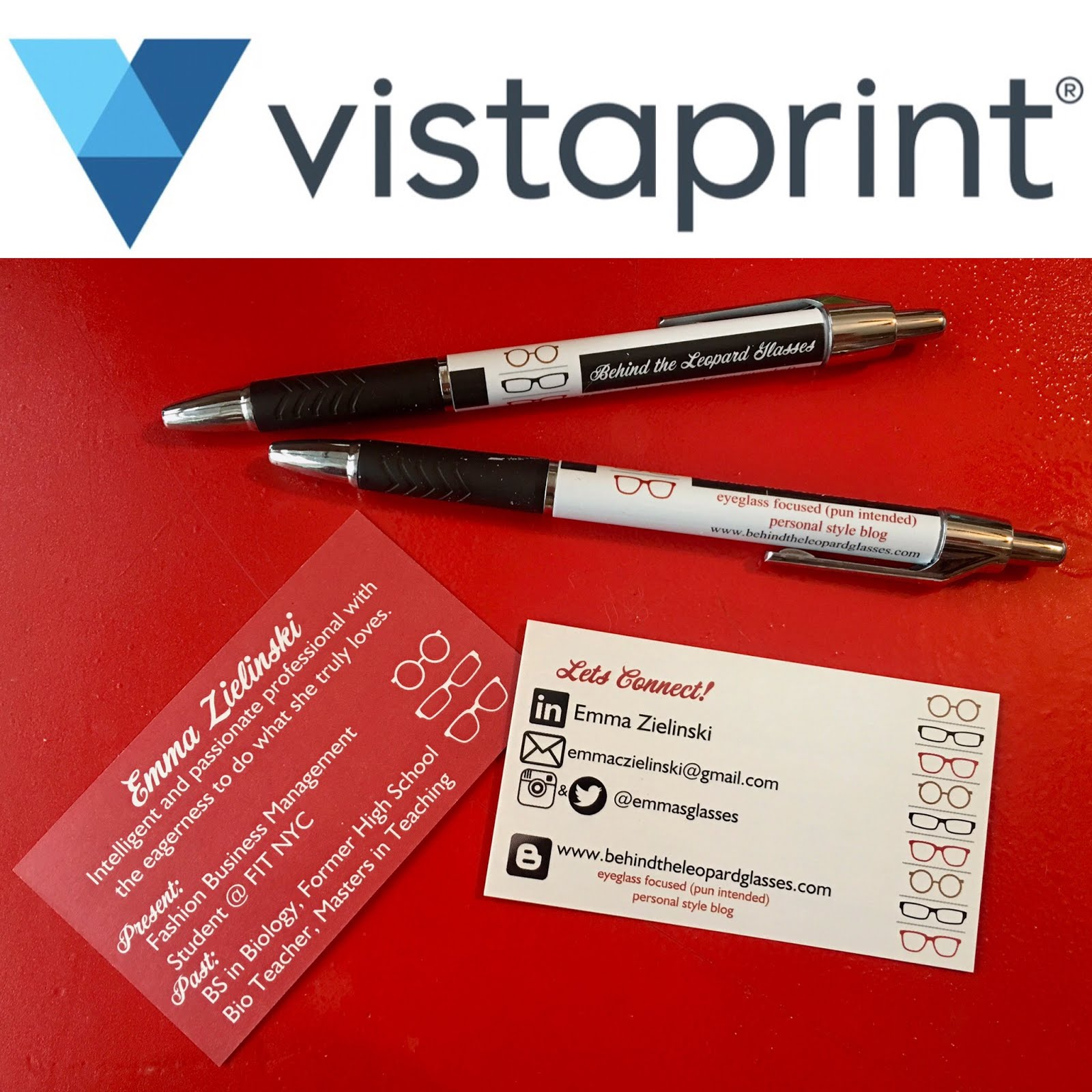 Business cards & merch from vistaprint