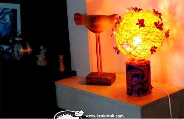 Đèn ngủ handmade từ lon thiếc và len